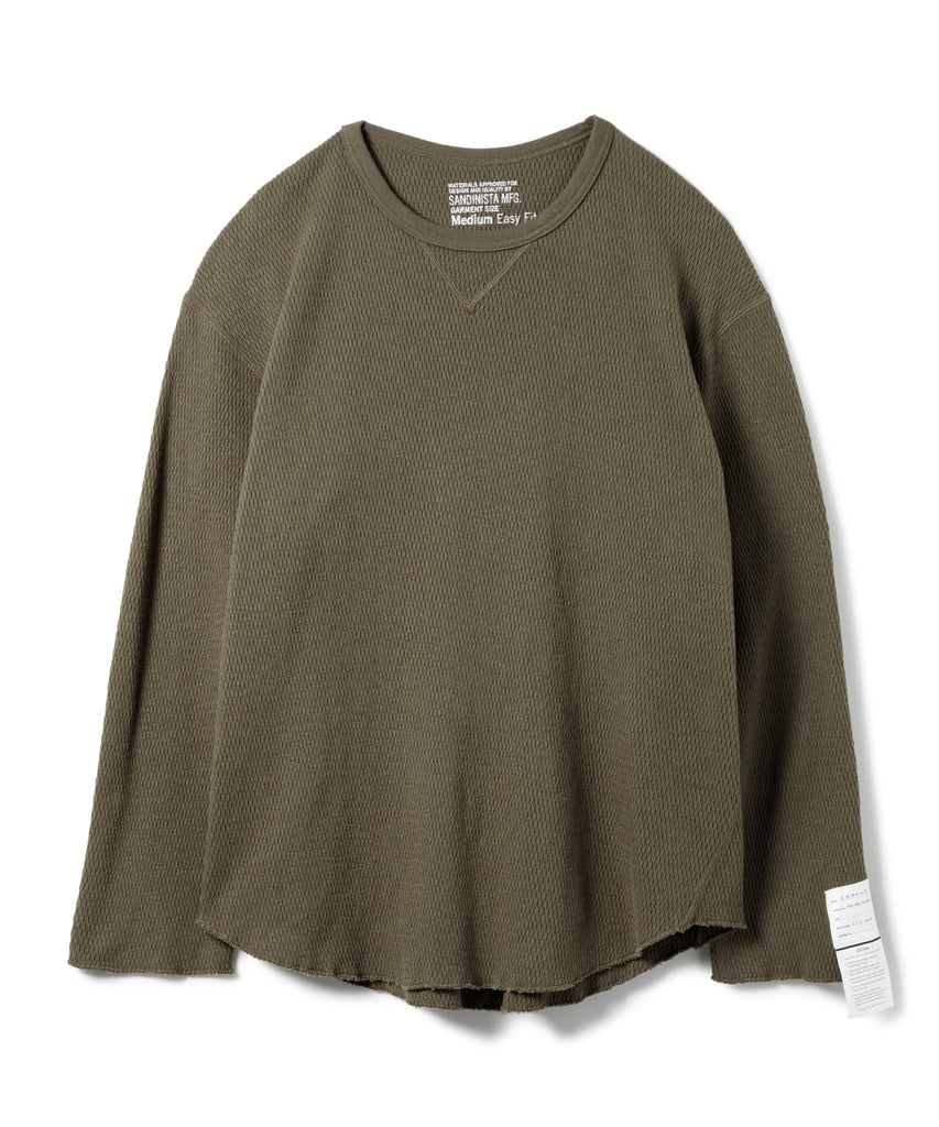 "Sandinista ""V-Gusset Cotton Thermal Top"" Khaki"