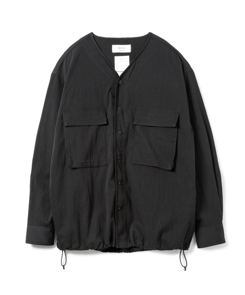 "Sandinista MFG ""Military Drawstring Stretch Shirt"" Black"