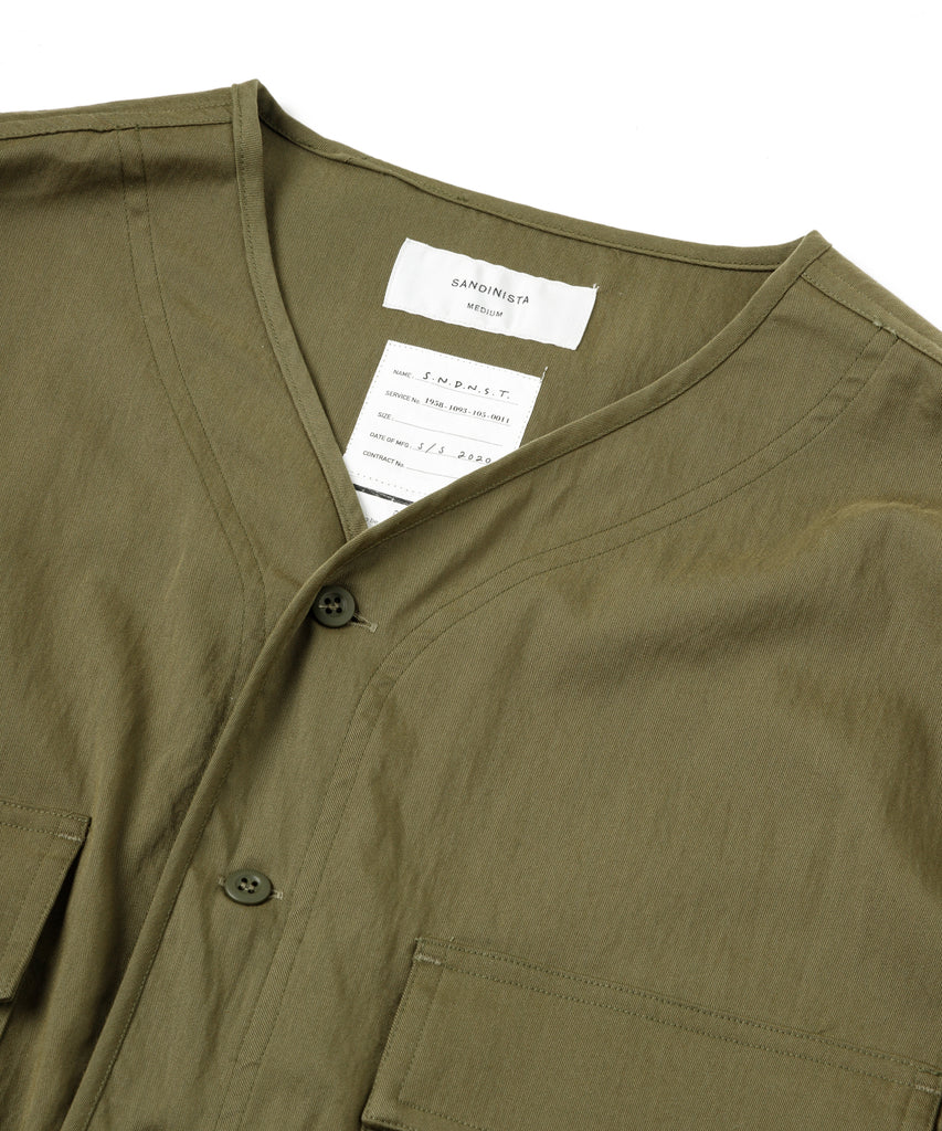 "SandinistaMFG ""Military Drawstring Stretch Shirt"" Olive"