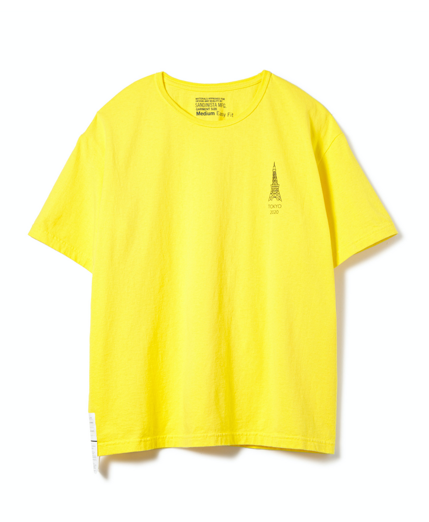 "Sandinista MFG ""Not Sky Tree Tee"" Yellow"