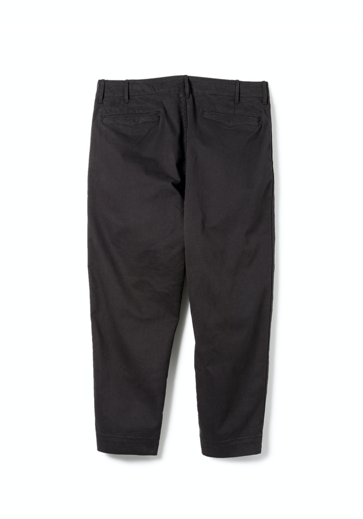 "Sandinista MFG ""B.C CHINO Stretch Pants - Ankle Cut"" Black"