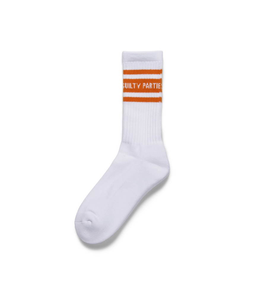 "WACKO MARIA ""Sports Socks"" White x Orange"