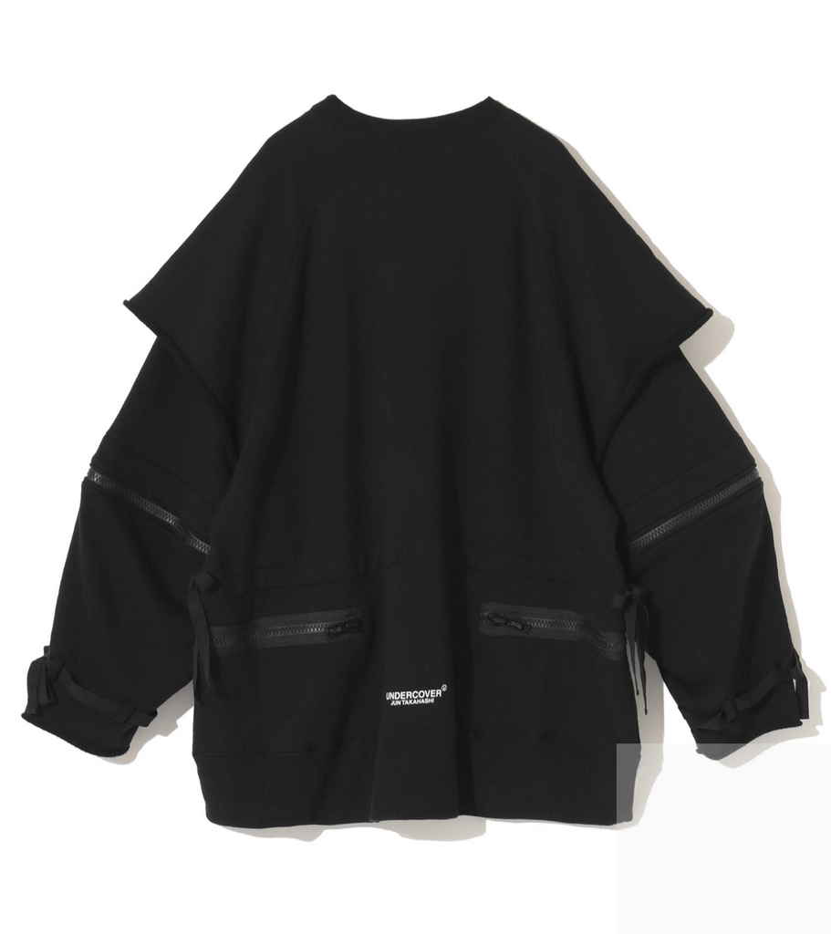 "UNDERCOVER ""UCZ4809 Zipped Sleeve Over Sized Sweater"" Black"