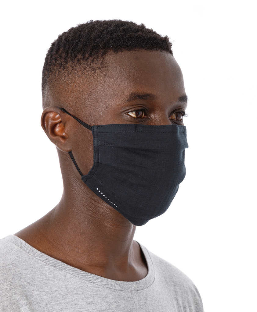 "Sandinista MFG ""Daily Gauze Face Mask"" Black"