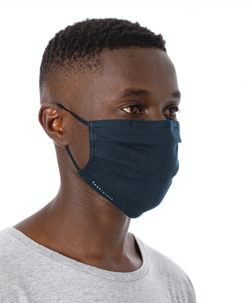 "Sandinista MFG ""Daily Gauze Face Mask"" Navy"