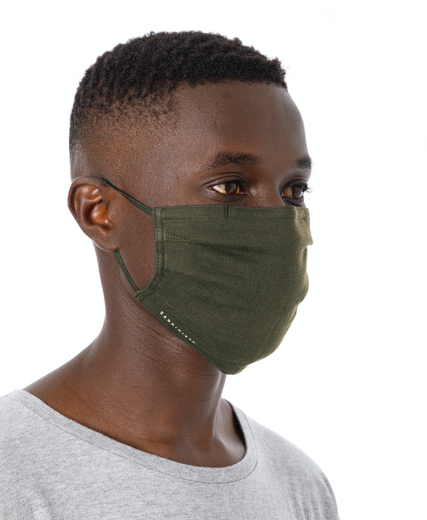"Sandinista MFG ""Daily Gauze Face Mask"" Olive"