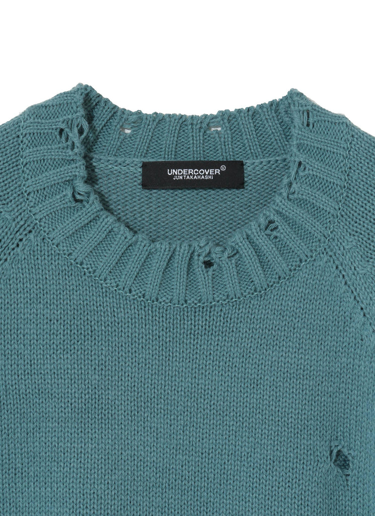 "UNDERCOVER ""Side Zip Knit-UC1A4905"" Gray Green"