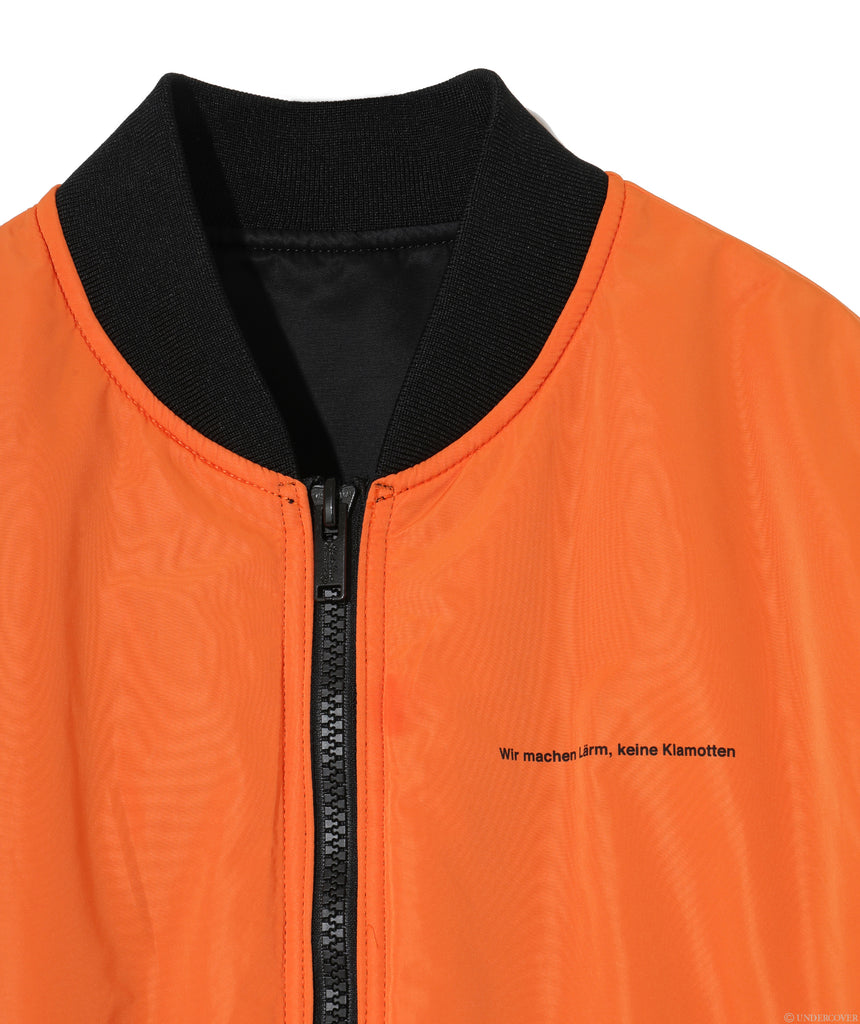 "UNDERCOVER ""UCZ4201-1 Fallen Man Reversible MA-1"" Black x Orange"