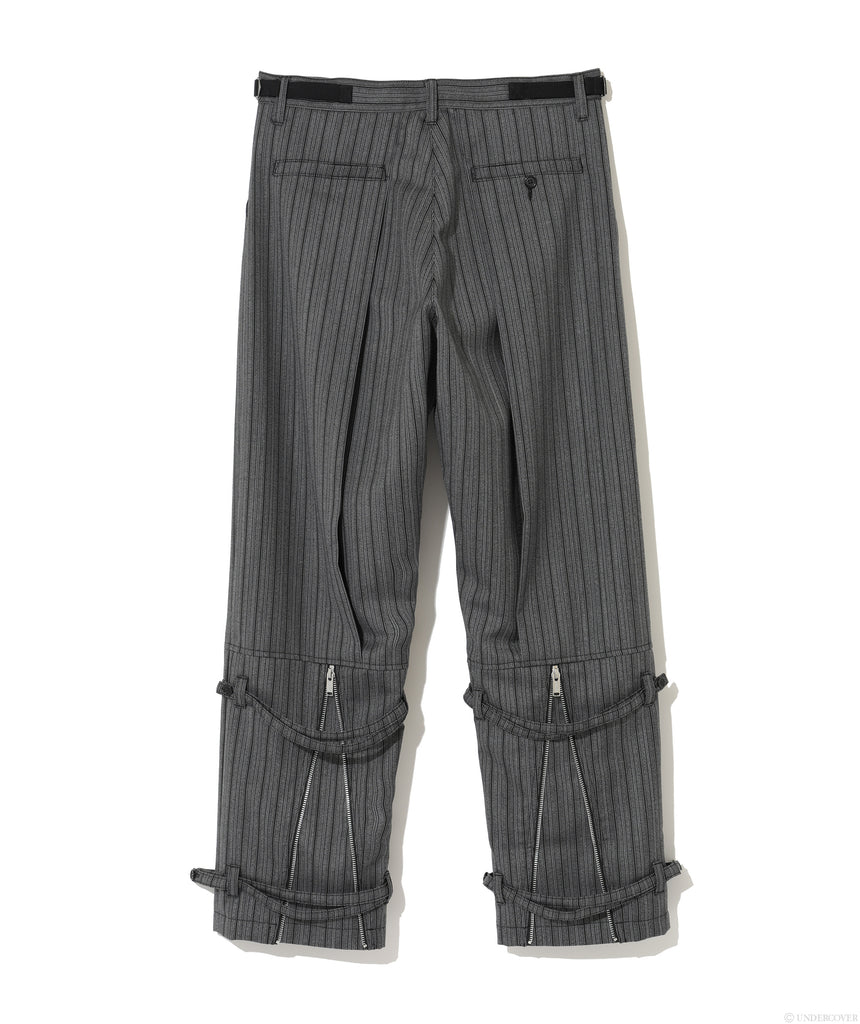 "UNDERCOVER ""UCZ4502-1 Pleats Zip Pants"" Gray Stripe"