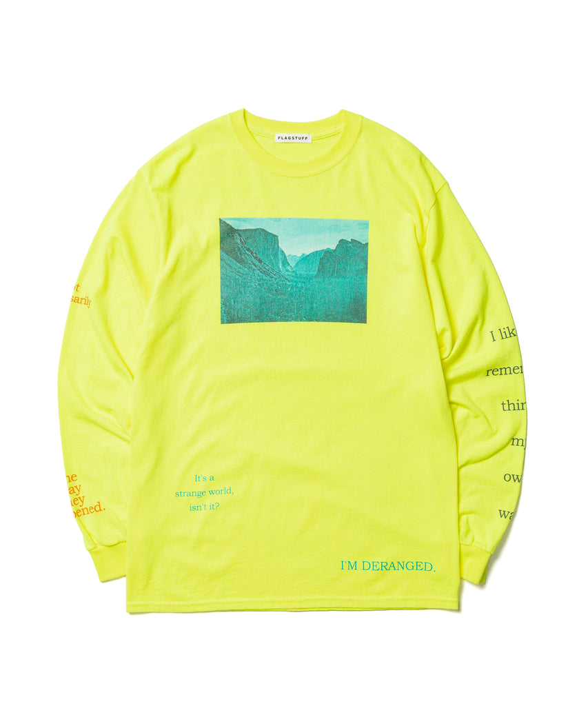 "Flagstuff ""Deranged L/S Tee"" Yellow"