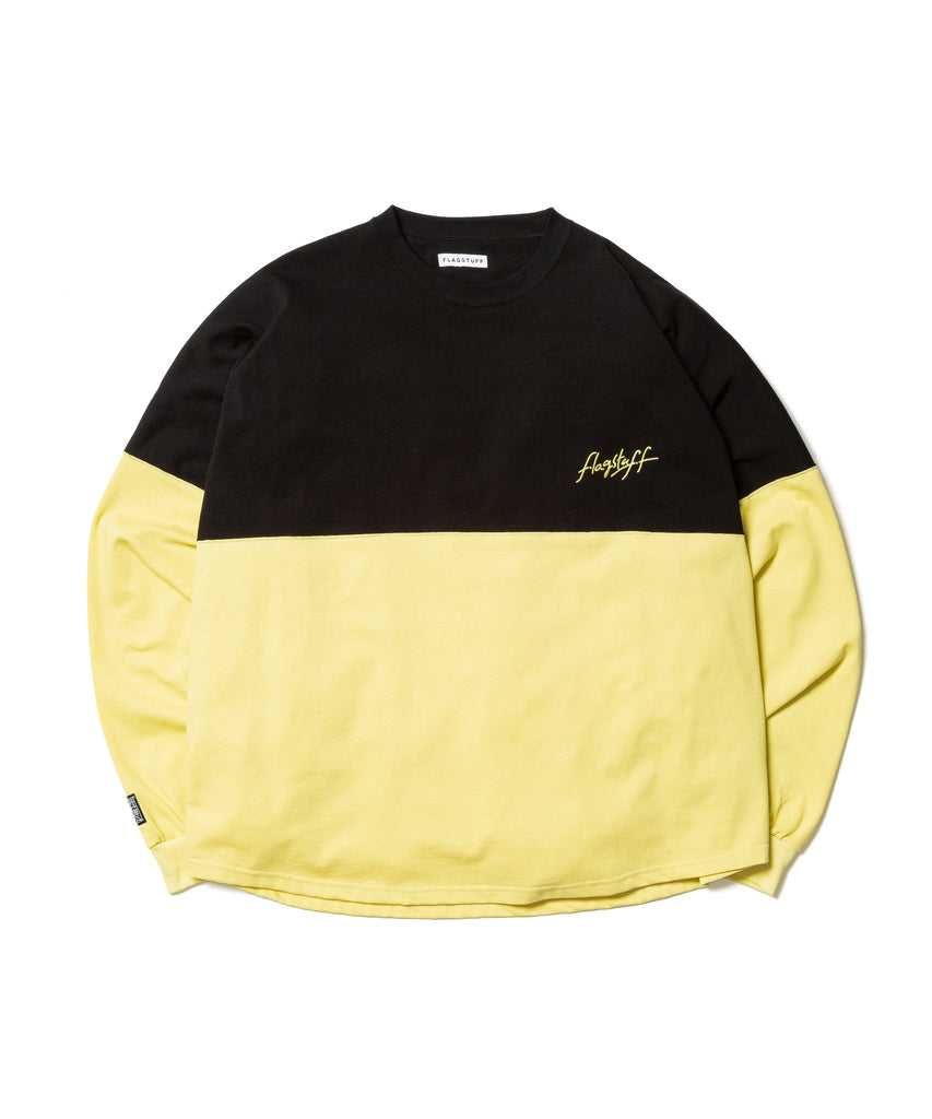 "Flagstuff ""L/S Football Tee"" Black x Yellow"