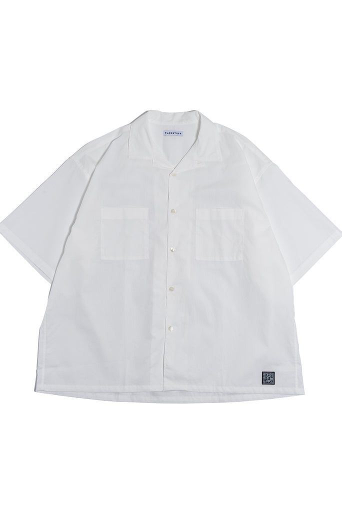 "Flagstuff ""S/S Big Boxy Shirt"" White"