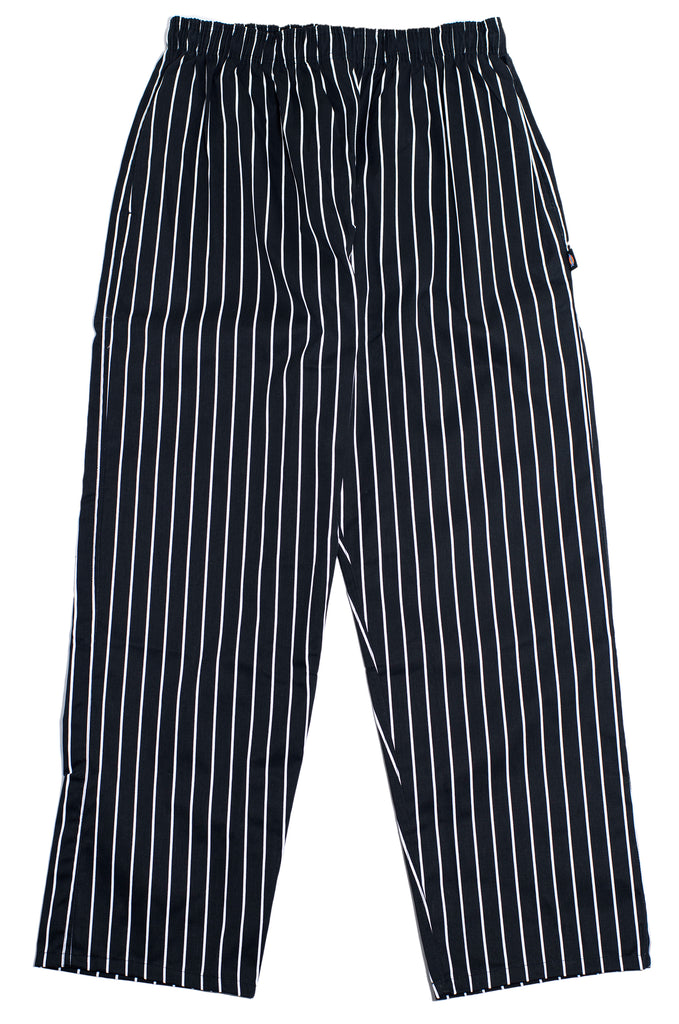 "Dickies ""Chef Baggy Pants"" Black x White Stripe"