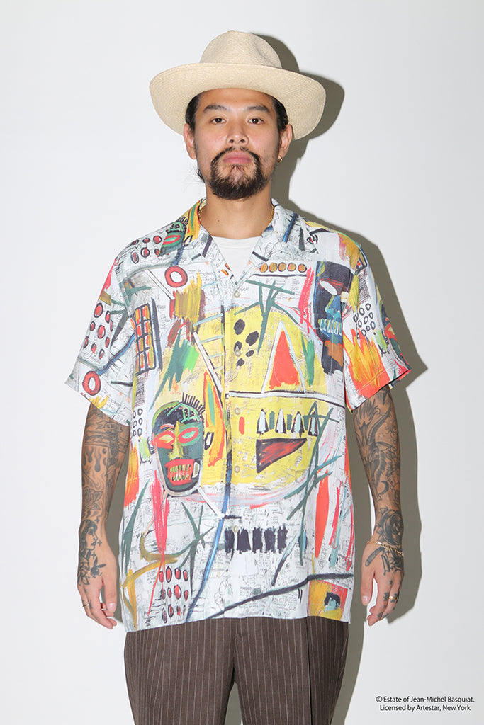 "WACKO MARIA ""JEAN-MICHEL BASQUIAT S/S Hawaiian Shirt Type-2"" Multicolor"