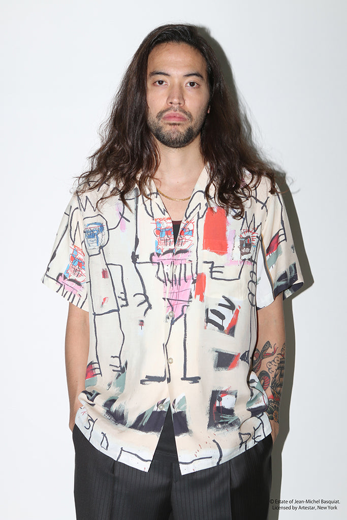 "WACKO MARIA ""JEAN-MICHEL BASQUIAT S/S Hawaiian Shirt Type-3"" Multicolor"
