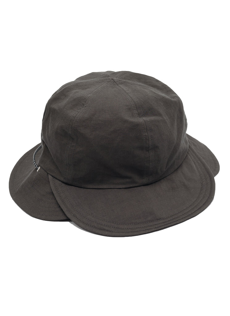 "meanswhile ""Split 6 Panel Hat"" Charcoal"