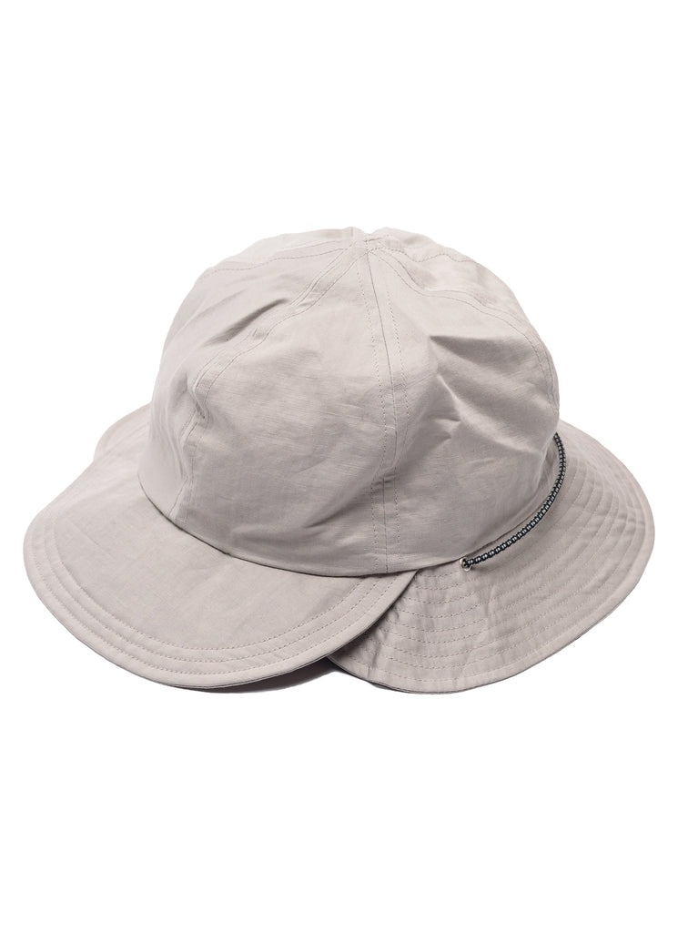 "meanswhile ""Split 6 Panel Hat"" Grey"