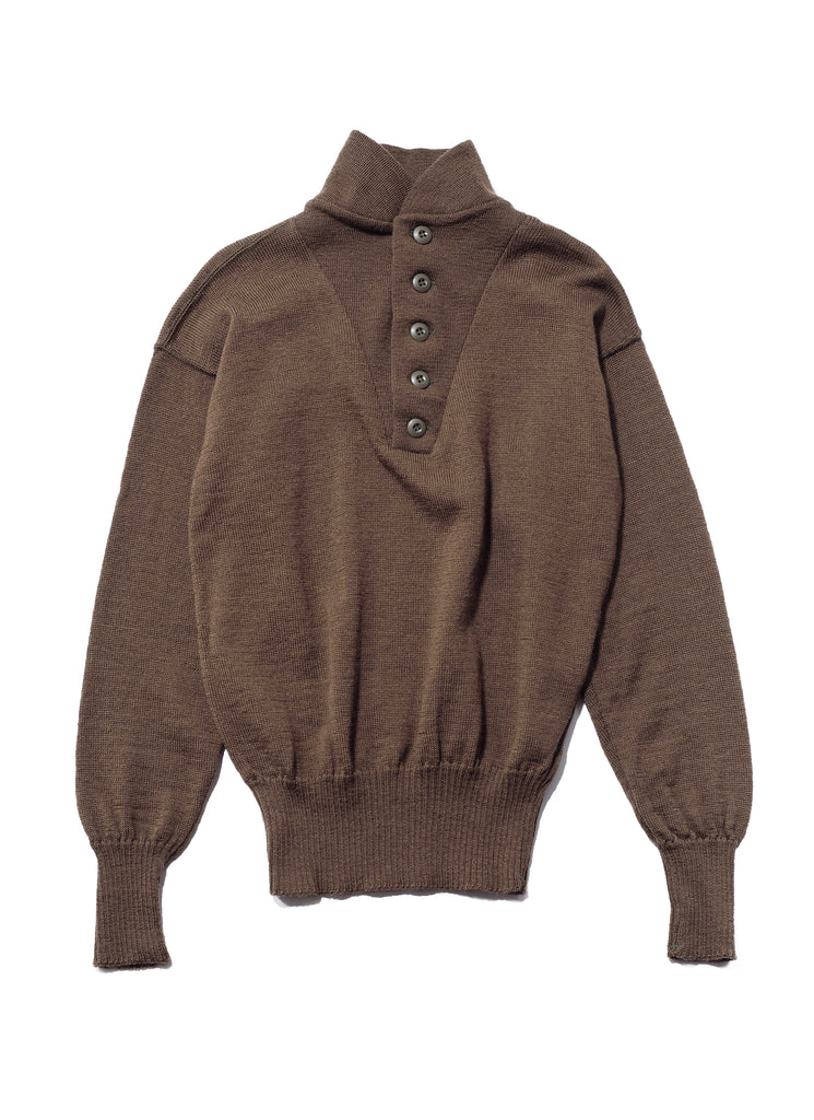 Military Wool Knit Sweater - Large