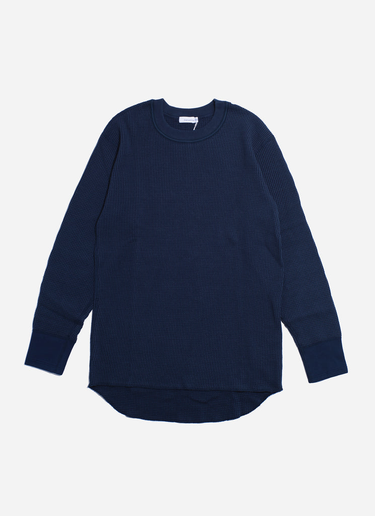 "nanamica ""Crew Neck L/S Thermal Tee"" Navy"