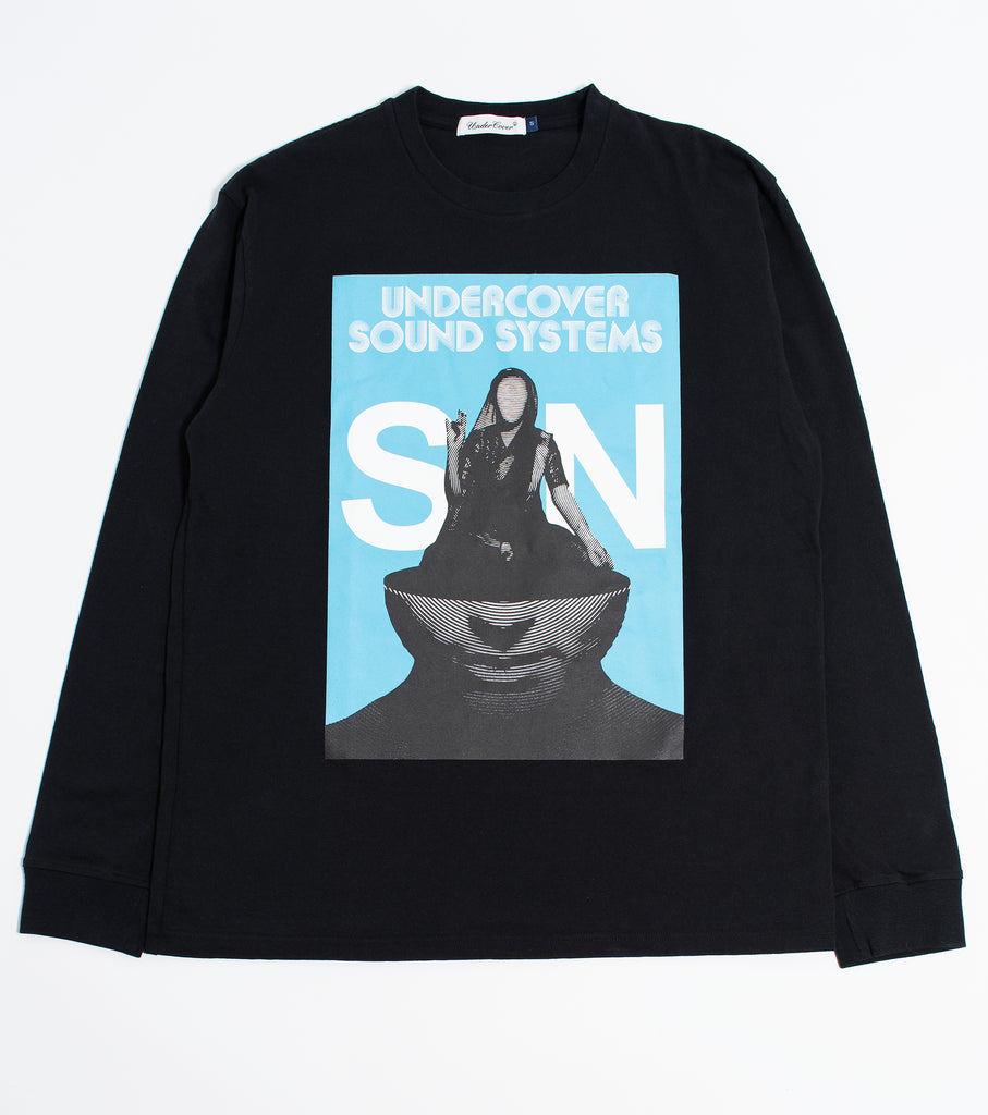 "UNDERCOVER ""UNDERCOVER SOUND STSTEM L/S Tee"" Black"