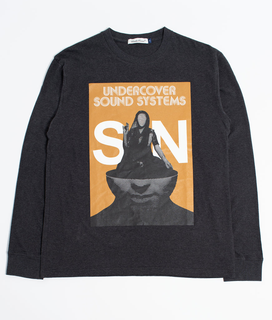 "UNDERCOVER ""UNDERCOVER SOUND SYSTEM L/S Tee"" Charcoal"