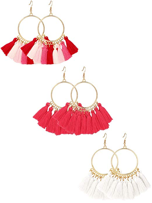 Tassel Hoop Earrings For Women