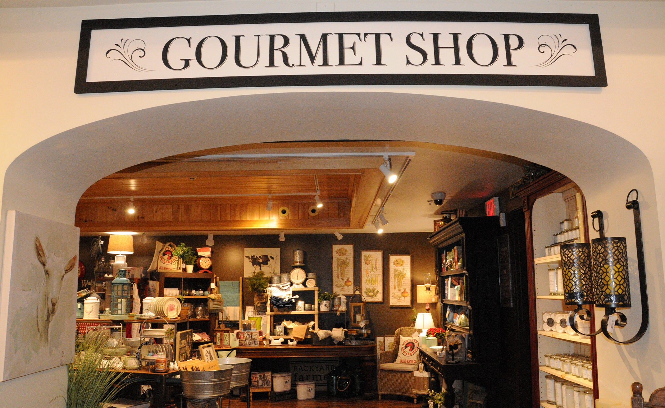 the gourmet shop at Kringle Candle