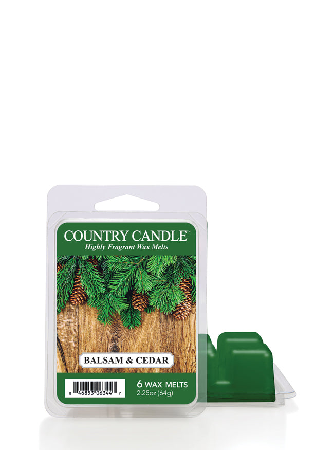 Balsam & Cedar Wax Melt Country Candle - Kringle Candle Store