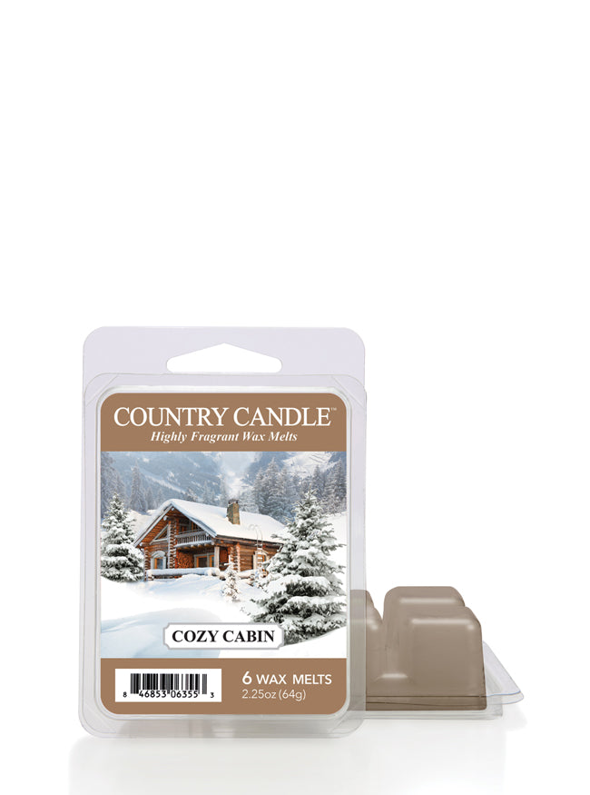 Cozy Cabin Wax Melt | Country Candle - Kringle Candle Store