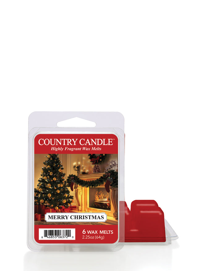 Merry Christmas Wax Melt Country Candle