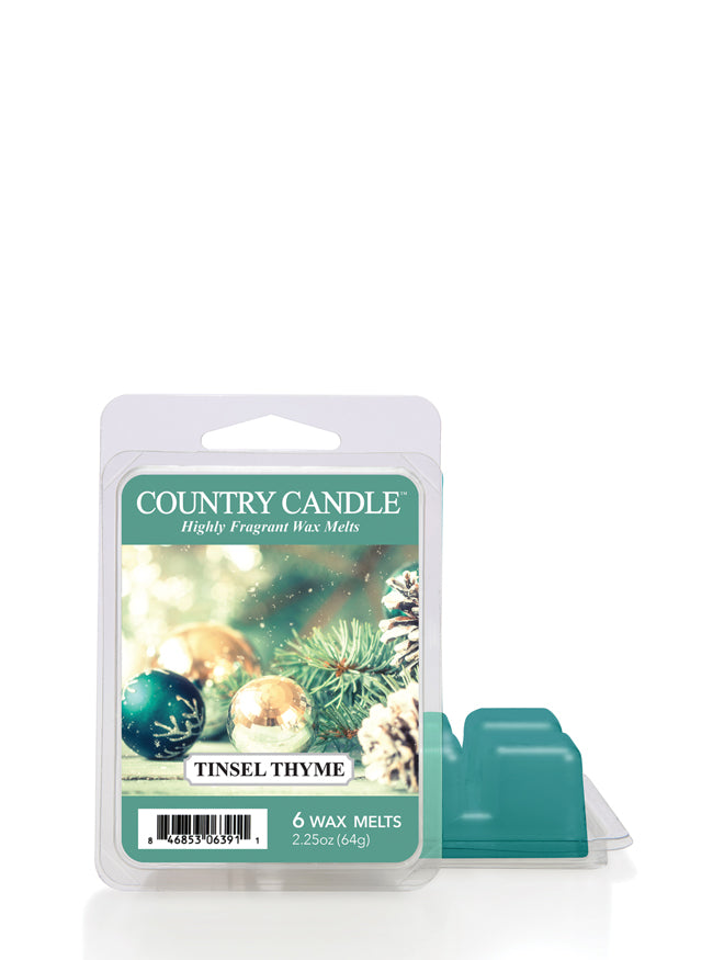 Tinsel Thyme Wax Melt | Country Candle