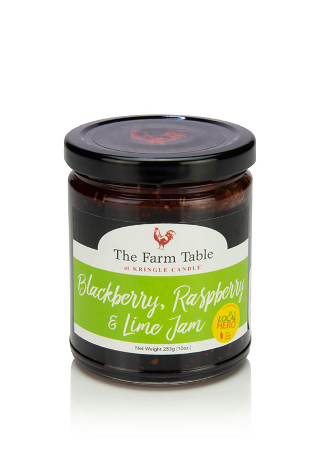Farm Table Blackberry, Raspberry & Lime Jam 10oz Jar - Kringle Candle Store