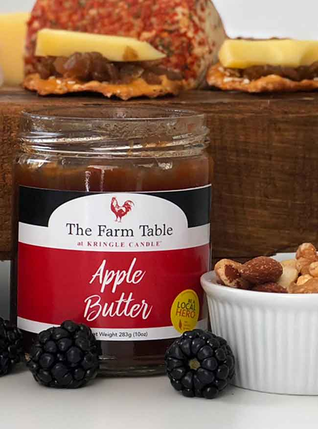 Farm Table Apple Butter 10oz Jar - Kringle Candle Store