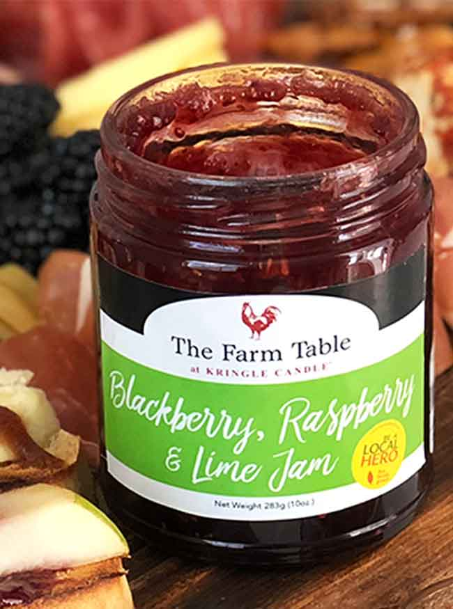 Farm Table Blackberry Raspberry Lime Jam 10oz Jar