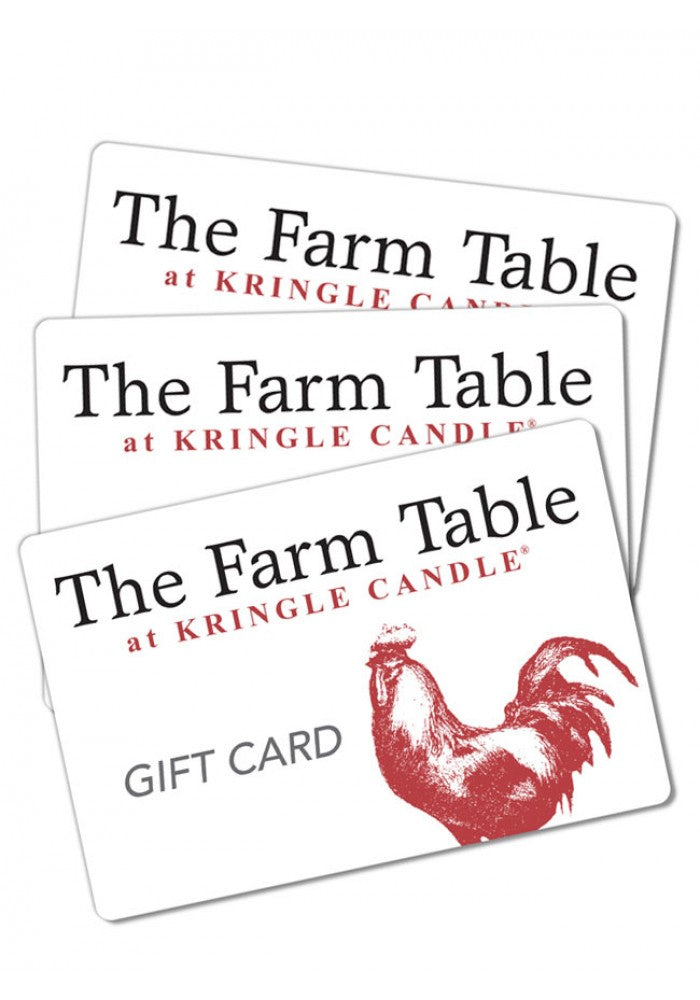 The Farm Table Restaurant Gift Card - Kringle Candle Store