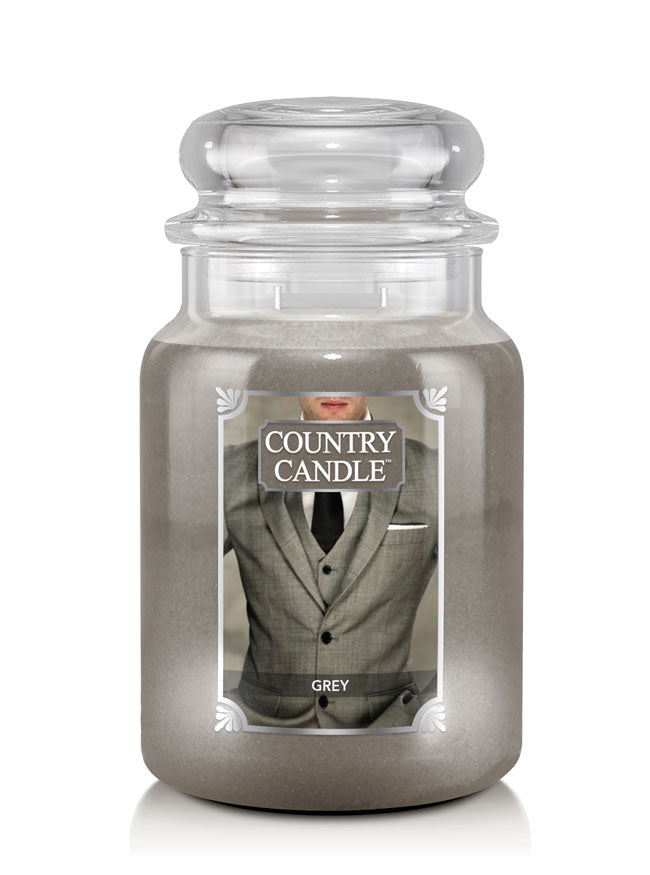 Grey Country Candle