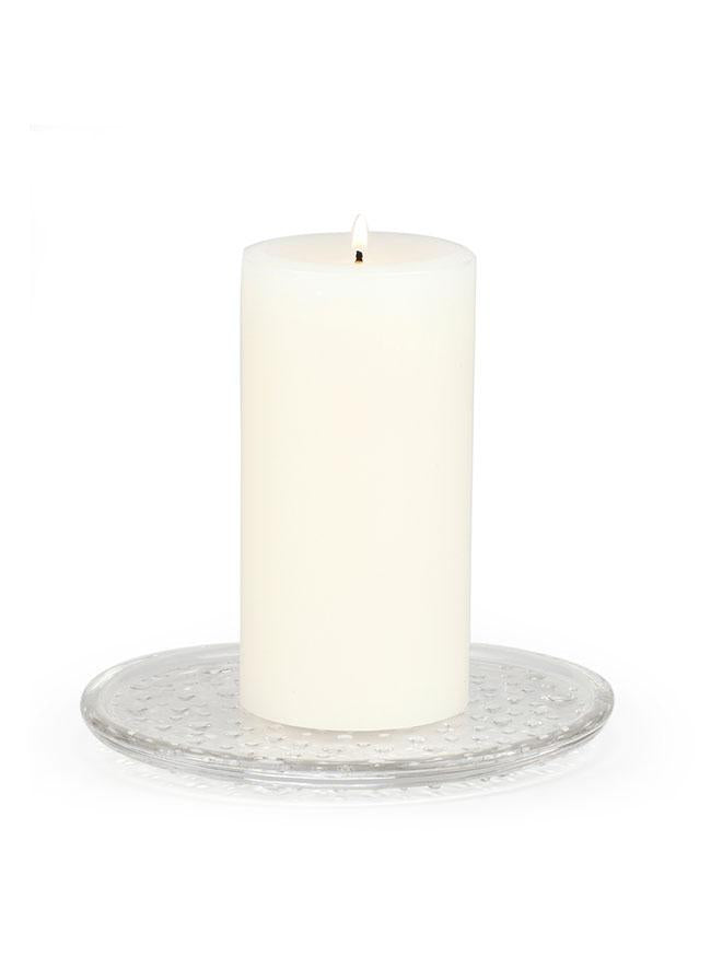 Seeded Glass Pillar Base - Kringle Candle Store