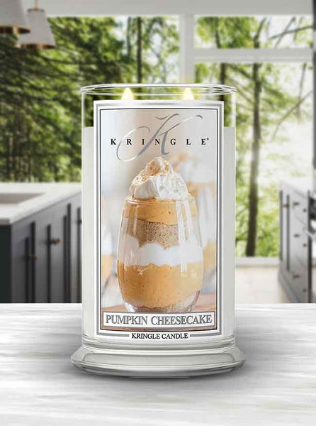 Pumpkin Cheesecake Large 2 Wick Jar Kringle Candle