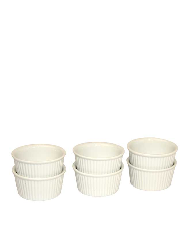Ramekin Dish 6oz 6pc - Kringle Candle Store