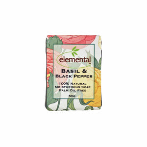 Basil & Black Pepper - Labeled Soap Tablet