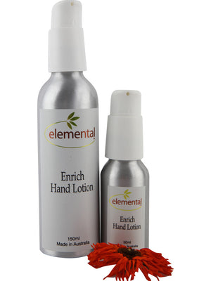 Enrich Hand Lotion by Elemental Organic Skin Care