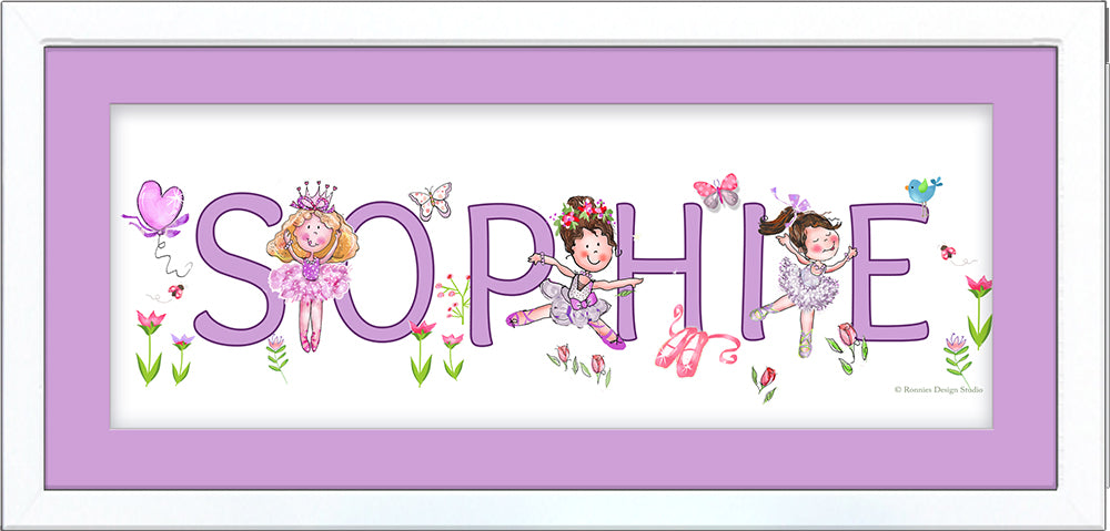 Little Ballerinas Name Frame - by Ronnies Design Studio