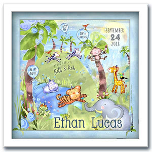 Jungle Party Personalized Wall Art