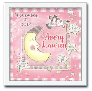 Cow Jumped Over the Moon Personalized Wall Art
