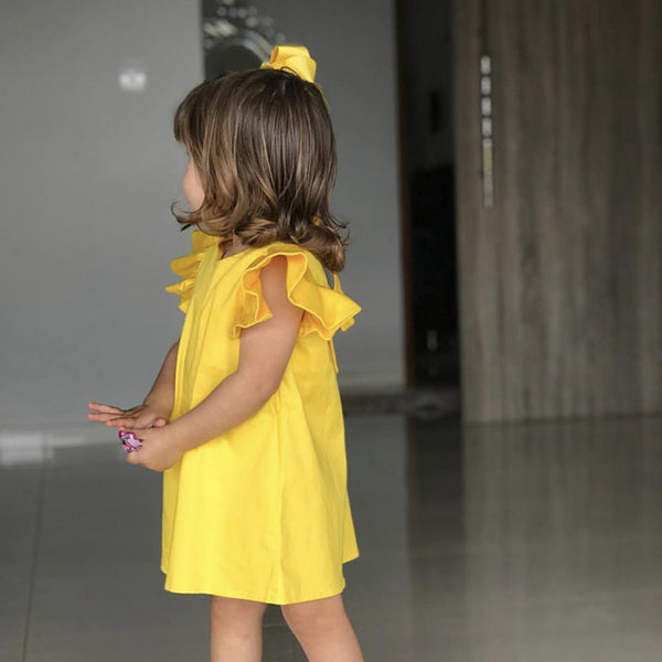 Bright Summer Yellow Dress