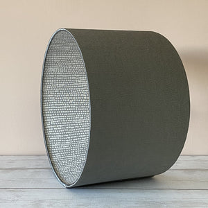 Gun Metal Grey Lampshade