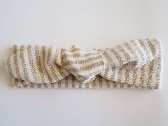 Stripes in Natural Linen/Cotton
