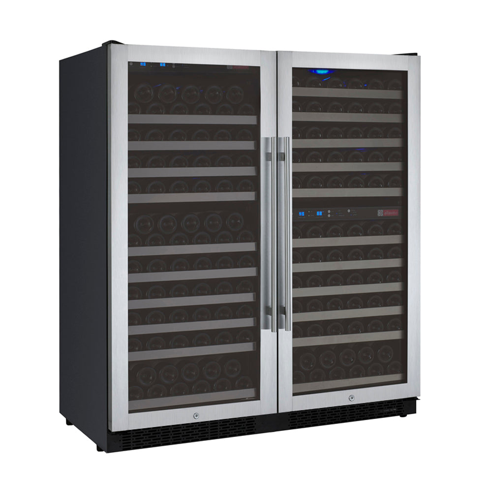 Allavino FlexCount II 249 Bottle Three Zone Stainless Side-by-Side Wine Cooler