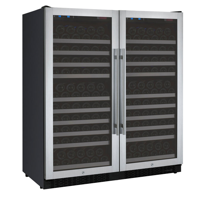 Allavino FlexCount II  256 Bottle Dual Zone Stainless Side-By-Side Wine Cooler
