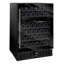 Load image into Gallery viewer, N'FINITY S Dual Zone 46 Bottle Wine Cooler Full Glass Door